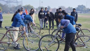 Launch of Cycle Polo as a sport at Modern School 2020